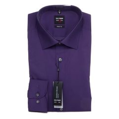 Olymp Level 5 Standard Collar Shirt, Slim Fit, Purple