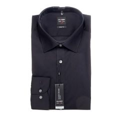 Olymp Level 5 Standard Collar Shirt, Slim Fit, Black