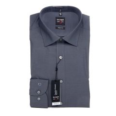 Olymp Level 5 Standard Collar Shirt, Slim Fit, Charcoal