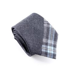 Hebridean Ice Tartan Tie, Custom Two Tone, Small Split
