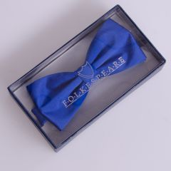 Bow Tie Royal Blue Kent Wide Fitting with Adjustable Clip Fitting