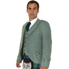 Traditional Style Lovat Green Tweed Kilt Outfit with 8 Yard Kilt