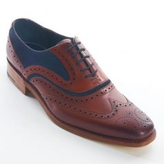 Dress Brogue Wingtip McClean Rosewood and Navy by Barker