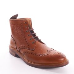 Brogue Bourton Boots in Tan by John White