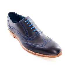 Dress Brogue Navy and Classic Blue Calf by Barker