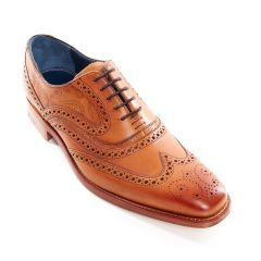Dress Brogue McClean Cedar Calf and Paisley Laser by Barker