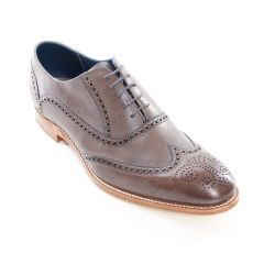 Dress Brogue Valiant Hand Painted Grey by Barker