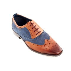 Jason, Tan and Navy Dress Brogues