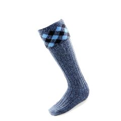 Diamond top Sock in Hebridean Ice Colours by House of Cheviot