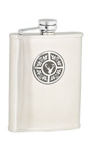 Thistle and Stag, 6oz Hip Flask