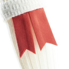 Red Ancient, Pure Wool Garter Flashes