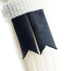Charcoal Twill, Pure Wool Garter Flashes