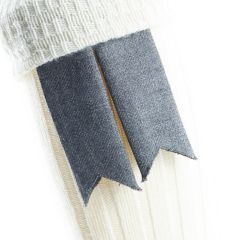 Graphite, Pure Wool Garters Flashes