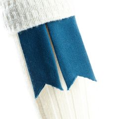 Blue Muted, Pure Wool Garter Flashes
