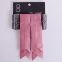 Garter Flashes for a Kilt in Silk Look Dusky Pink Fabric