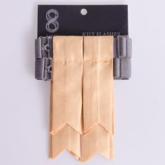 Garter Flashes for a Kilt in Silk Look Gold Fabric