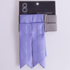 Garter Flashes for a Kilt in Silk Look Lavender Fabric