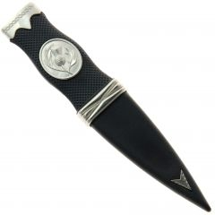 Safety Sgian Dubh Resin and Chrome Plain Top