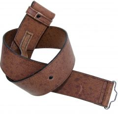 Leather Kilt Belt Khaki Pig Skin, Made in Scotland