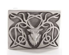 Antique, Pewter Stag Belt Buckle