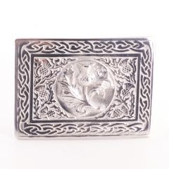 Thistle Centered Pewter Belt Buckle