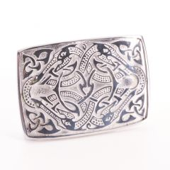 Celtic Dragon Pewter Belt Buckle