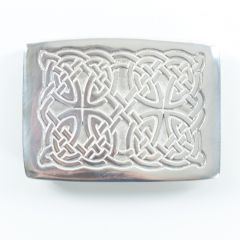 Celtic Knotted Pewter Belt Buckle