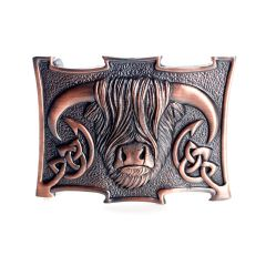 Copper Highland Cow Belt Buckle