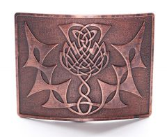 Copper, Highland Thistle Belt Buckle