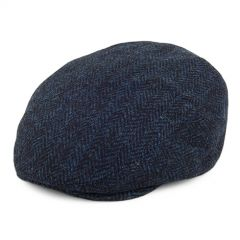 Navy, Stornoway Harris Tweed Flat Cap