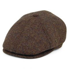 Brown, Hudson Harris Tweed Cap