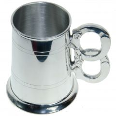 Pewter Tankard with Handcuffs, 1 Pint