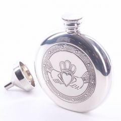 Claddach 6oz Pewter Hip Flask