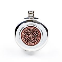 6oz Celtic Rose Pewter Flask