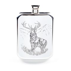 6oz Pewter Stag Purse Hip Flask