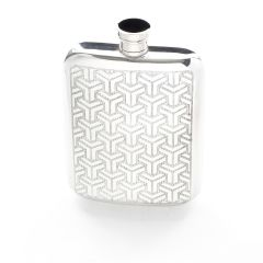 6oz Pewter Symetrics Hip Flask
