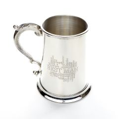 1 Pint Pewter Best Man Tankard