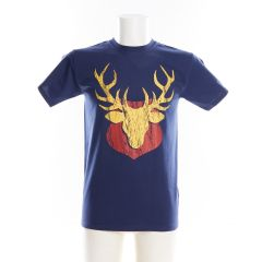 Navy Mounted Stag T-Shirt by Urban Pirate