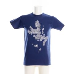 Navy Isle Of Skye Map T-Shirt by Urban Pirate