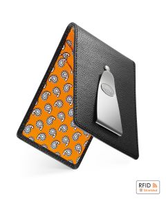 Black and Orange Paisley Insignia Wallet by Dalvey