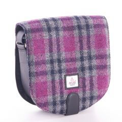 Pink Check Harris Tweed Small Cross Bag
