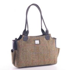 Ladies Country Green Harris Tweed Day Bag