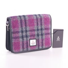 Ladies Pink Check Harris Tweed Shoulder Bag