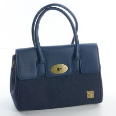 Blue Tweed Handbag