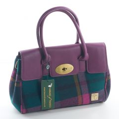 Purple Check Handbag