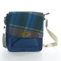 Multi Check Tweed Messenger Bag