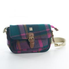 Small Purple Check Satchel