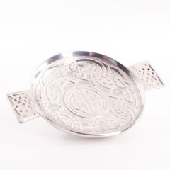 Celtic Knot and Band 3 1/2 Inch Pewter Quaich