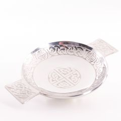 Celtic Knot 3 1/2 Inch Pewter Quaich
