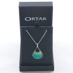 Sterling Silver Elements Pendant, Tundra by Ortak
